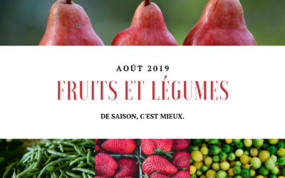 Fruits et légumes : Août
